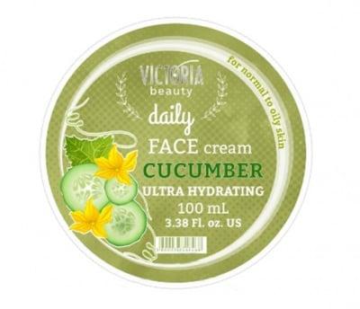 Victoria beauty daily ultra hydrating face cream with cucumber 100 ml / Виктория бюти Дейли ултра хидратиращ крем за лице с краставица 100 мл