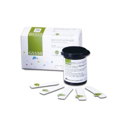 Blood glucose test strips Bionime GS550 50 pcs. / Тест ленти за измерване на кръвна захар Бионейм GS550 50 броя