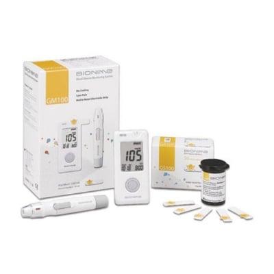 Blood glucose apparatus Bionime Rightest GM100 + 50 pcs. test strips / Апарат за измерване на кръвна захар Бионейм GM100 + 50 броя тест ленти