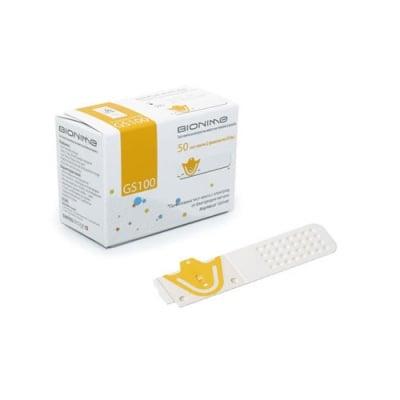 Blood glucose test strips Bionime GS100 50 pcs. / Тест ленти за измерване на кръвна захар Бионейм GS100 50 броя