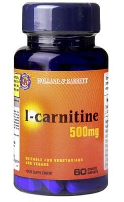L-carnitine 500 mg 30 caplets Holland Barrett / L-Карнитин 500 мг. 30 каплети Holland Barrett
