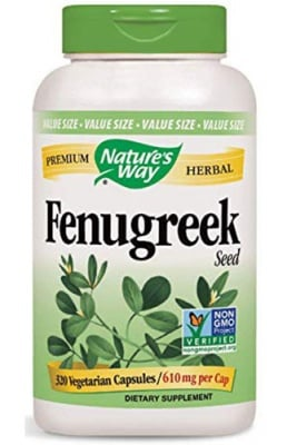 Fenugreek 610 mg. 320 capsules Nature`s Way / Сминдух 610 мг. 320 капсули Nature`s Way