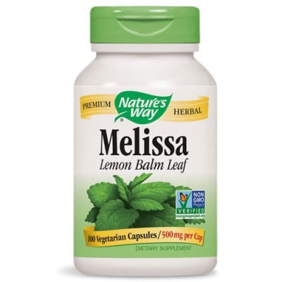 Melissa Lemon Balm Leaf 500 mg. 100 capsules Nature's Way / Маточина лист 500 мг. 100 капсули Nature's Way