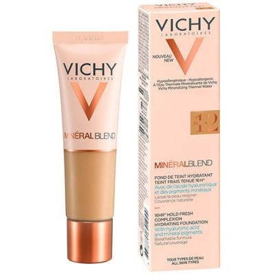 Vichy Mineralblend complexion hydrating foundation 12 sienna 30 ml / Виши Минералбленд фон дьо тен 12 сиена 30 мл