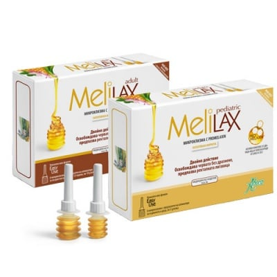 Aboca Melilax Pediatric microclisma with promelaxin 6 x 5 g / Абока Мелилакс Педиатрик микроклизми за деца 6 броя x 5 гр.
