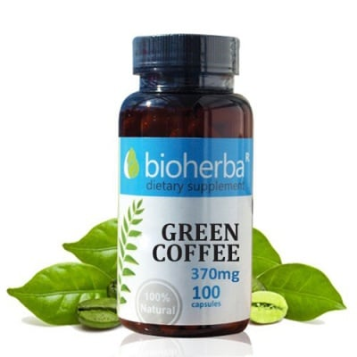 Bioherba Green coffee 370 mg 100 capsules / Зелено кафе 370 мг. 100 капсули Биохерба