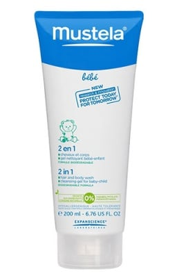 Mustela 2 in 1 hair and body wash 200 ml / Мустела 2 в 1 измиващ гел - шампоан за коса и тяло 200 мл.