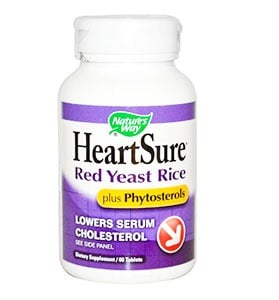 Heart sure red yeast rice plus 1000 mg. 60 tablets Nature's Way / Здраво сърце плюс 1000 мг. 60 таблетки Nature's Way