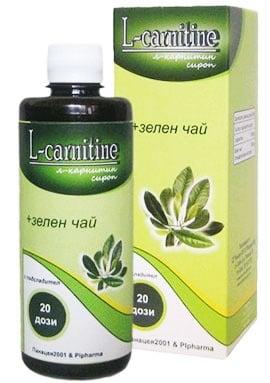 L - Carnitine with Green tea syrup 400 ml. / L - Карнитин + Зелен чай сироп 400 мл.