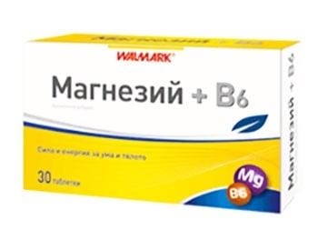 Magnesium + Vitamin B6 tablets 30 Walmark / Магнезий + Витамин Б6 30 таблетки Валмарк