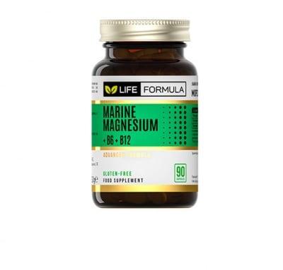 Life formula marine magnesium + B6 + B12 90 capsules / Лайф формула морски магнезий + витамини Б6 + Б12 90 капсули