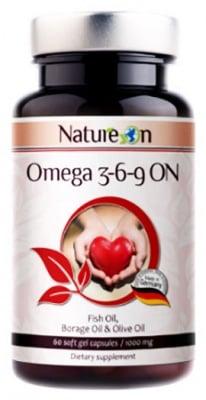 Natureon Omega 3-6-9 On 60 capsules / Нейчърон Омега 3-6-9 Он 60 броя капсули