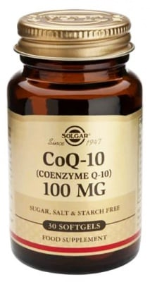Coenzyme Q 10 vegetable 100 mg. 30 capsules Solgar / Коензим Q 10 100 мг. 30 капсули Solgar