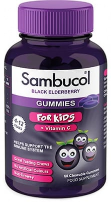 Sambucol Gummies for kids chewable gummies 60 / Самбукол Гъми кидс драже 60 броя.