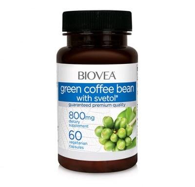 Biovea green coffee bean with svetol 800 mg. 60 capsules / Биовеа зелено кафе+ светол 800 мг. 60 капсули.