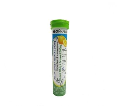 Abopharma calcium+ vitamin C effervescent 20 tablets / Абофарма калций + витамин Ц ефервесцентни 20 таблетки