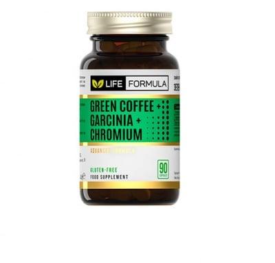 Life formula green cofee garcinia and chromium 90 capsules / Лайф формула зелено кафе, гарциния и хром 90 капсули