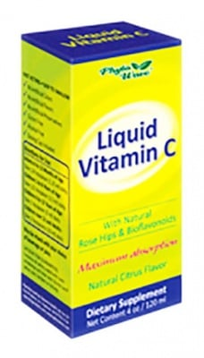 Liquid Vitamin C syrup 120 ml. Phyto Wave / Витамин Ц сироп 300 мг. / 5 мл. 120 мл. Phyto Wave