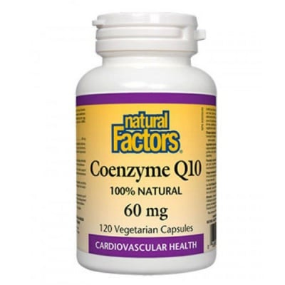 Coenzyme Q10 60 mg 120 capsules Natural Factors / Коензим Q10 60 мг. 120 капсули Натурал Факторс