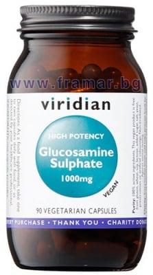 ГЛЮКОЗАМИН СУЛФАТ (ВИСОКО ПОТЕНЦИРАН) капсули 1000 мг * 90 VIRIDIAN