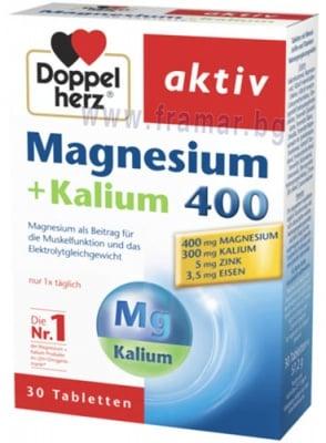 ДОПЕЛХЕРЦ АКТИВ МАГНЕЗИЙ + КАЛИЙ таблетки * 30