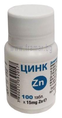 ЦИНК таблетки 15 мг * 100 ПАНАЦЕЯ