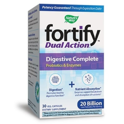 Fortify dual action digestive complete 30 capsules Nature's Way / Фортифай Дуал Акшън Диджестив 30 капсули Nature's Way