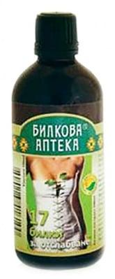 Tincture 17 Herbs for weight loss and detoxification 100 ml. / Тинктура Билки за отслабване и детоксикация 100 мл.