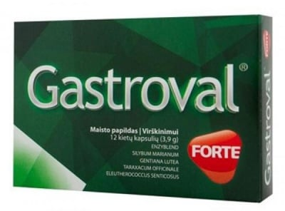 Gastroval Forte 12 capsules / Гастровал Форте 12 капсули