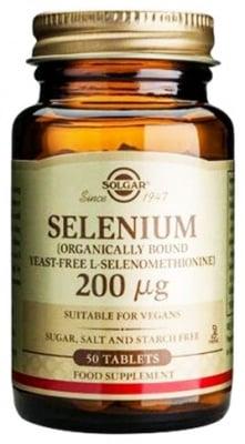 Solgar Selenium 200 mcg. 50 tablets / Солгар Селен 200 мкг. 50 таблетки