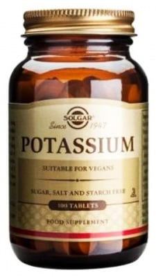 Solgar Potassium 99 mg. 100 tablets / Солгар Потасиум глюконат 99 мг. 100 таблетки