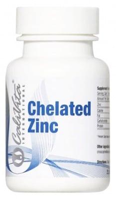Calivita Chelated zinc 15 mcg. 100 tablets / Каливита Цинков хелат 15 мкг. 100 таблетки