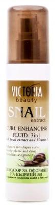 Victoria beauty Curl enhancing fluid with snail extract 150 ml. / Виктория бюти Фиксатор за оформяне на къдрици с екстракт от охлюви 150 мл.