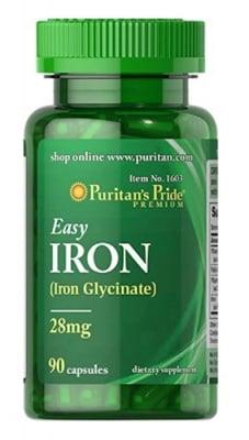 Puritan's Pride Iron 28 mg 90 capsules / Пуританс Прайд Желязо 28 мг. 90 капсули