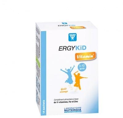 Ergykids vitamin 3-12 years sachet 14 Nutergia / Ерджикид витамин за деца от 3-12 години сашета 14