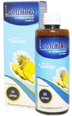 L - Carnitine with Pineapple syrup 400 ml. / L - Carnitine + Ананас сироп 400 мл.
