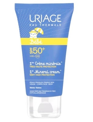 URIAGE BABY SPF 50+ suncare mineral cream 50 ml. / Уриаж БЕБЕ  SPF 50+ минерален слънцезащитен крем 50 мл.