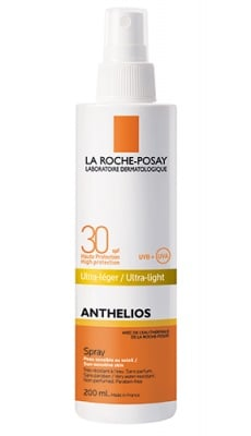 La Roche ANTHELIOS SPF 30 ultra light spray 200 ml / Ла Рош АНТЕЛИОС SPF 30 слънцезащитен спрей 200 мл.