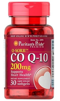 Puritan's Pride Co Q10 200 mg 30 capsules / Пуританс Прайд Коензим Q10 200 мг. 30 капсули
