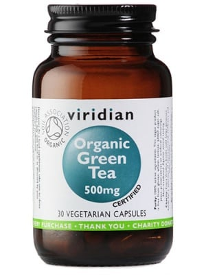 Organic green tea 500 mg 30 ca