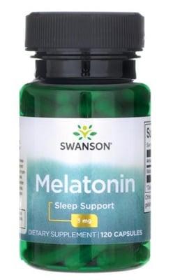Swanson melatonin 3 mg 120 capsules / Суонсън Мелатонин 3 мг. 120 капсули