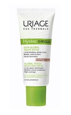 Uriage HYSÉAC 3-REGUL SPF 30 global tinted skin care 40 ml. / Уриаж HYSÉAC 3-REGUL SPF 30 крем за мазна кожа с несъвършенства с цвят 40 мл.