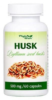 Husk 500 mg. 60 capsules Phyto Wave / Хуск 500 мг. 60 броя капсули Фито Уейв