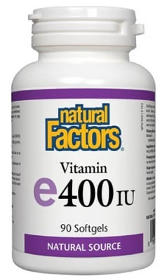 Vitamin E 400 IU 90 capsules Natural Factors / Витамин Е 400 IU 90 капсули Натурал Факторс
