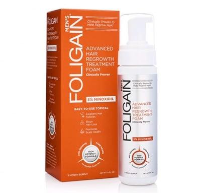 Foligain minoxidil 5% hair refrowth foam for men 180 ml. / Фолигейн N5 пяна против косопад за мъже 180 мл.