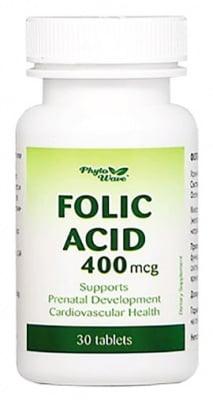 Folic Acid  400 mcg. 30 tablets Phyto Wave / Фолиева киселина 400 мкг. 30 таблетки Phyto Wave