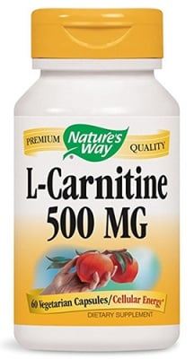 L-Carnitine 500 mg 60 capsules Nature's Way / L-Карнитин 500 мг. 60 капсули Nature's Way