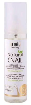 Victoria beauty Natural Snail Hydra - Rest moisturizing micellar water 150 ml. / Виктория бюти Натурал Хидра - Рест Хидратираща мицеларна вода с екстракт от охлюв 150 мл.