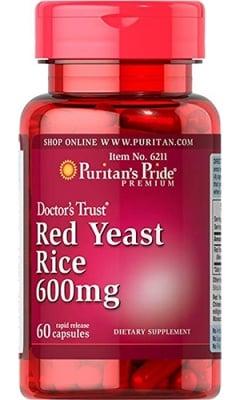 Puritan's Pride red yeast rice 600 mg 60 capsules / Пуританс Прайд Мая от червен ориз 600 мг. 60 капсули