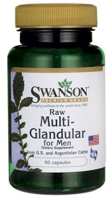 Swanson Raw multi-glandular for men 60 capsules / Суонсън Сурови жлези мъже 60 капсули